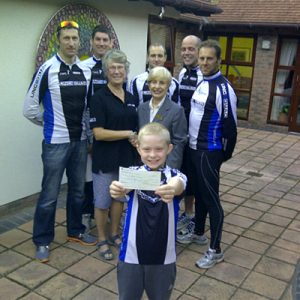 Cheque presentation to Lindsey Lodge